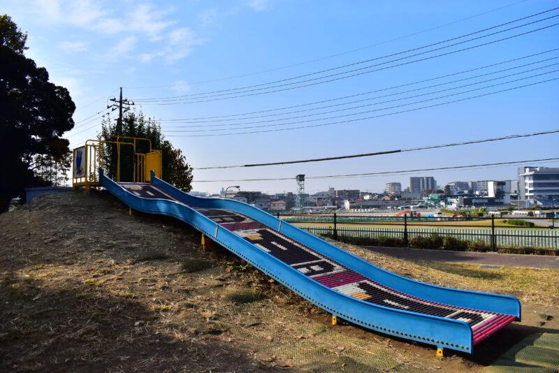 馬のローラー滑り台
