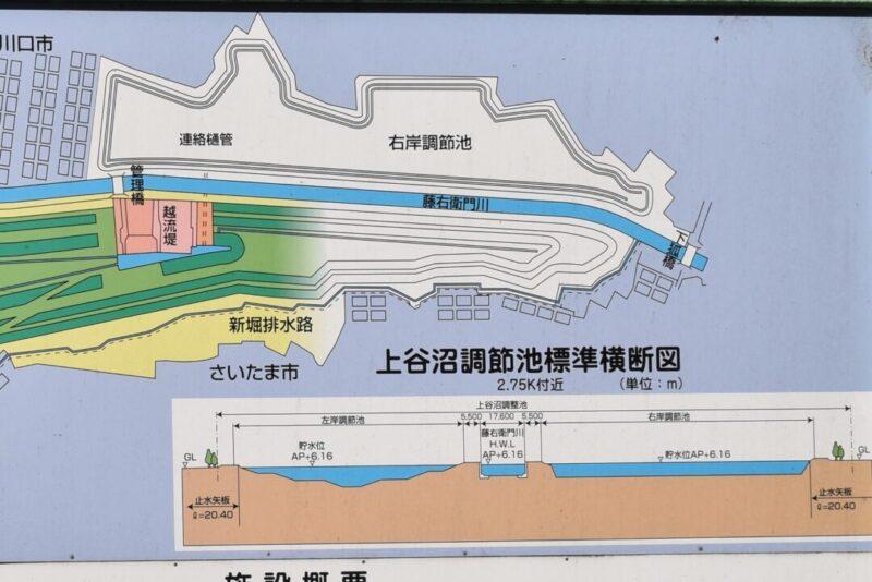 上谷沼調節池右岸の画像