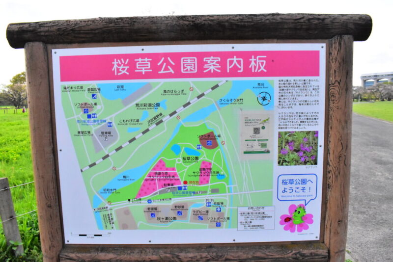 桜草公園案内板