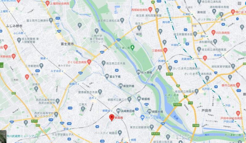 朝霞周辺マップ