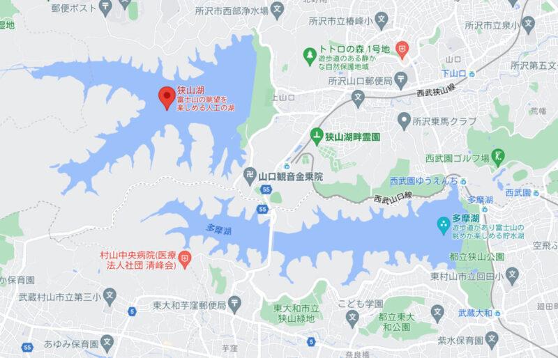 狭山湖周辺地図