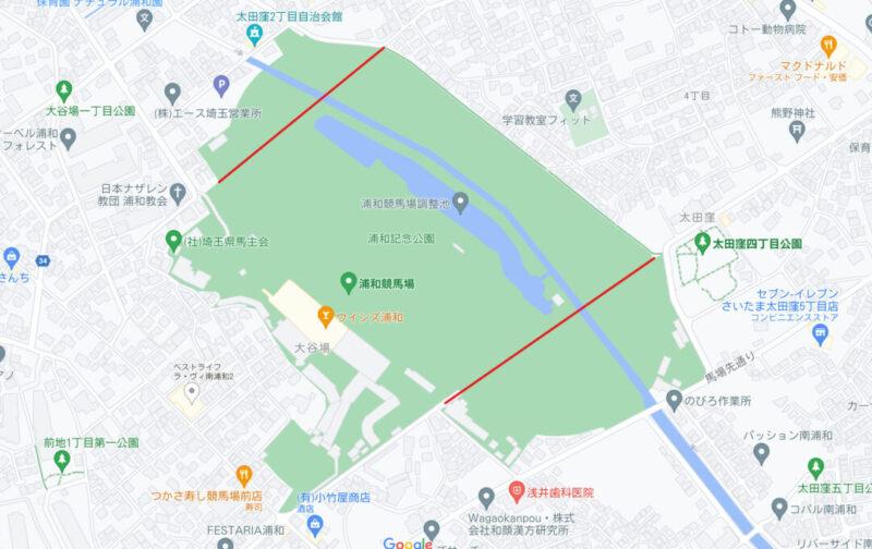 浦和競馬場マップ