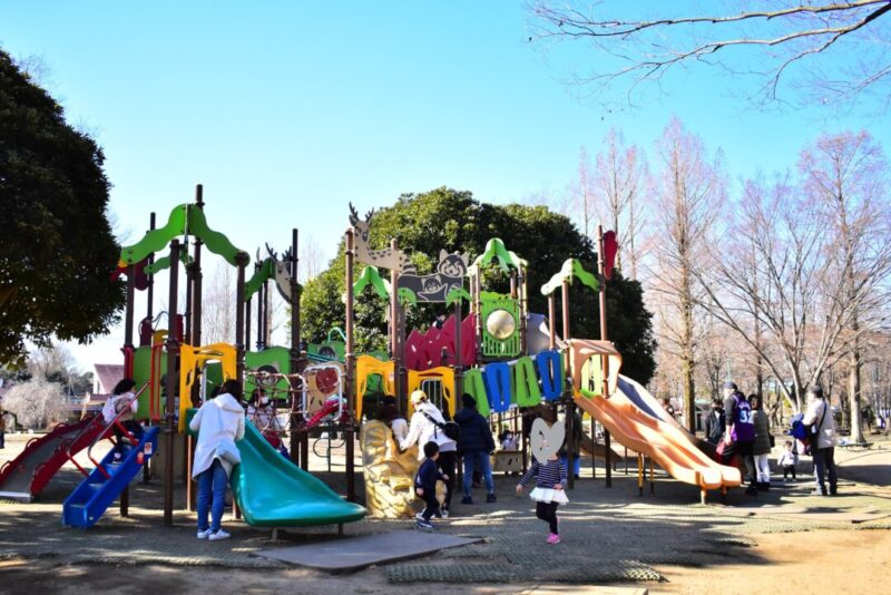 大崎公園の複合遊具