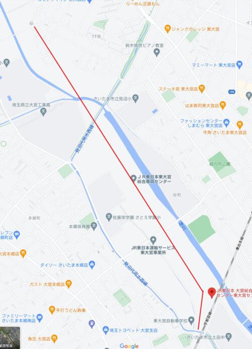「JR東日本大宮総合車両センター東大宮センター(東大宮操車場)」マップ