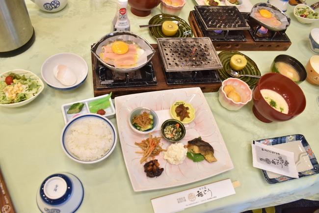 ゆの宿和どう朝食
