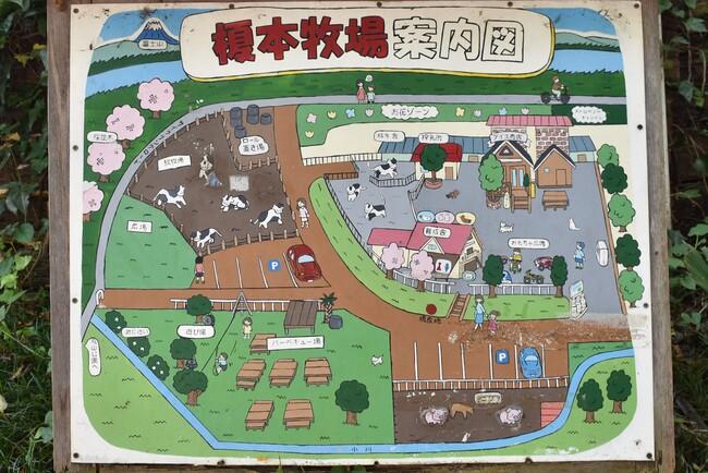 榎本牧場案内図