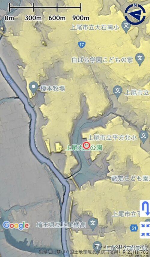 上尾丸山公園の地形