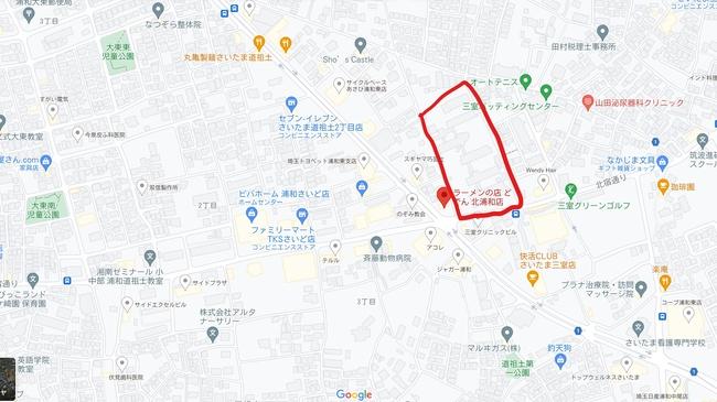 「(仮称)埼⽟県⽴総合教育センター跡地公園」マップ