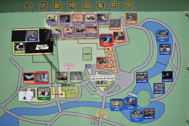 大崎公園子供動物園案内図
