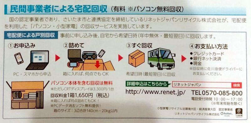 リネットジャパン宅配回収