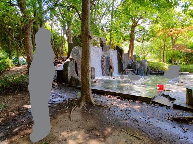 松芝公園夏の滝
