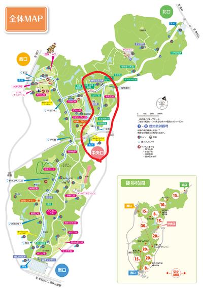 国営武蔵丘陵森林公園のマップ