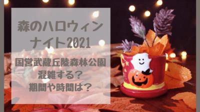 森のハロウィンナイト2021は混雑する?埼玉・国営武蔵森林公園のライトアップ&イルミネーション!期間や時間も調べました