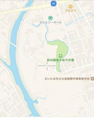 鴨川みずべの里の現在の地図